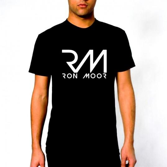 Male Black Ron Moor Tee-Shirt